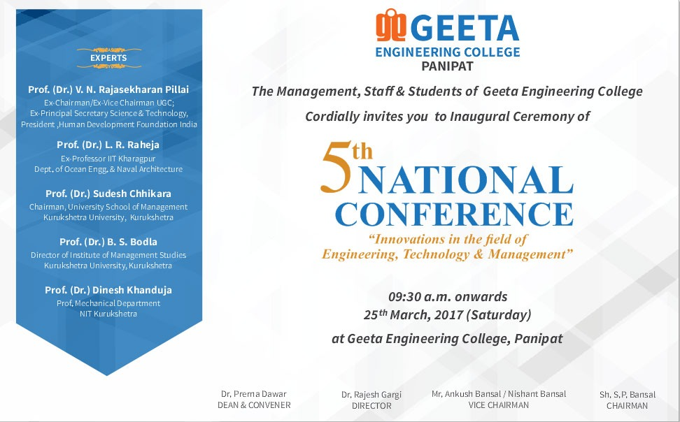 5th National Confrence on Innovations in the Field of Engineering, Technology & Management (1)